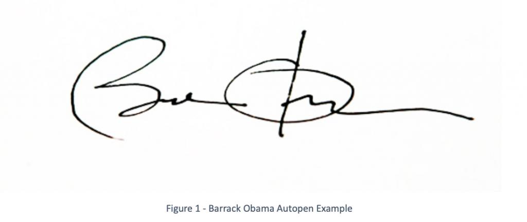 Barak Obama Autopen