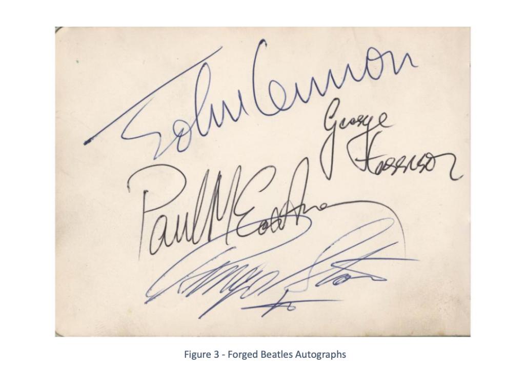 Autograph forgeries