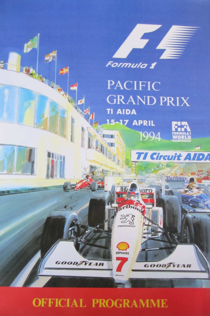 Ayrton senna pacific grand prix 1994 autographs robert for Pacific grand